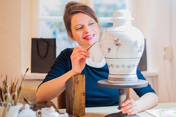 Janett Noack, galerie kunst & eros, Atelier