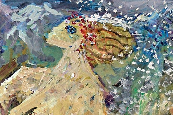 Galerie kunst und eros, Maria Adler-Krafft · Winter vertreibt den Frühling