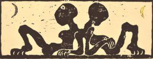 Galerie kunst und eros, Ulrich Eissner · Zwei Monde