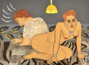 Galerie kunst und eros, Katharina Kretschmer · Frau und Mann mit Zigarette